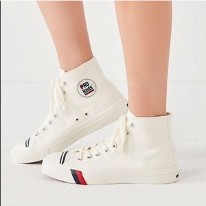 Pro Keds Vintage White High Top Canvas Sneakers